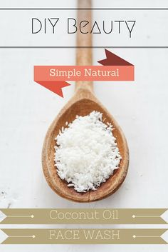 Simple & Natural Coconut Oil Face Wash by ashleyebeauty Coconut Oil For Lips, Natural Coconut Oil, Natural Oil, Oil Face Wash, Diy Beauty Makeup, Cooking With Coconut Oil, Diy Skin Care, Simple, Face Tips