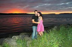 Sunset engagement photo