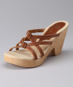 Light Brown Ivy Sandal from Sbicca on #zulily #madeintheusa