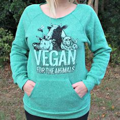 For The Animals - Sweat shirt - Green / Compassion Co