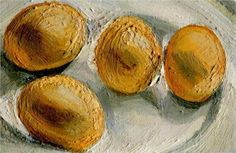 Four Eggs on a Plate - Lucian Freud - 2002.