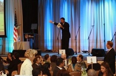 Grant Snyder getting the crowd bidding at an auction