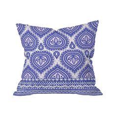 Chantilly Hearts Outdoor Throw Pillow | dotandbo.com