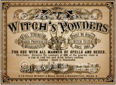 Apothecary Label Halloween Witch Potion Vintage by chocolaterabbit