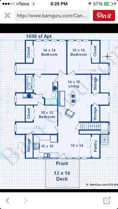 2 Bedroom Apt Horse barn   Floor Plans   Pinterest   Horse barns ...