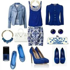 Different shades of blue