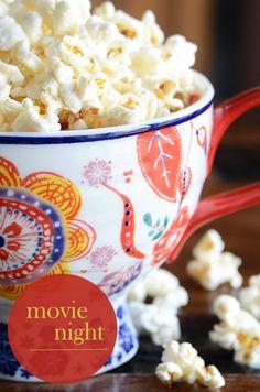 fun movie night finger food ideas!