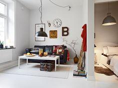 49m² de estilo nórdico con toques industriales - Estilo nórdico | Muebles diseño | Blog de decoración | Decoración de interiores - Delikatissen