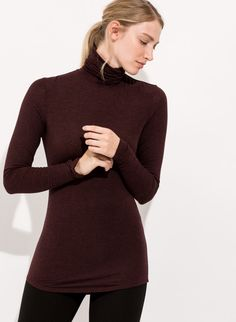 Women's Cashmere long sleeve turtleneck | Prevost Long sleeve | Kit and Ace