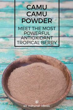 Camu Camu powder just might be the one superfood supplement you should have in your pantry. Its super-high vitamin C content and antioxidants may help prevent inflammation and disease. via All Natural Ideas – Herbs Superfood Recipes, Smoothie Recipes, Healthy Recipes, Smoothies, Healthy Foods, Antioxidant Supplements, Anti Oxidant Foods, Homemade Scrub, Soy Products