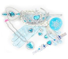 HXL Snow Queen Princess Elsa Tiara Wig Necklace Earrings Gloves Jewelry Set of 8 HXL.Online http://www.amazon.com/dp/B00V931UAQ/ref=cm_sw_r_pi_dp_bfuYvb0DZ8F4Z