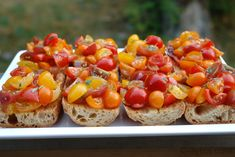 Easy tomato bruschet