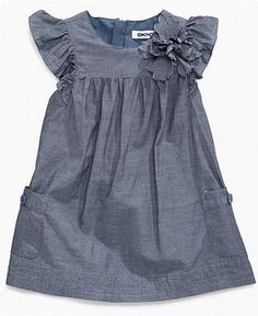 Baby Girl Clothes at Macy's come in a variety of styles and sizes. Shop Baby Girl Clothing at Macy's and find newborn girl clothes, toddler girl clothes, baby dresses and more. Little Girl Dresses, Girls Dresses, Flower Girl Dresses, Baby Girl Fashion, Kids Fashion, Moda Kids, Baby Jeans, Baby Dress, Kids Outfits