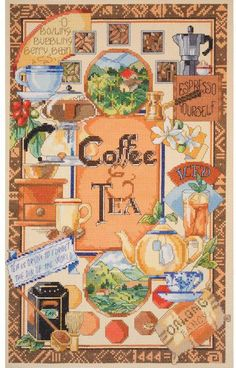 Coffee and Tea - Cross Stitch Kit