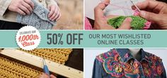 50% Off Craftsy Class Sale!