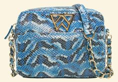 IN LOVE with the Kelly Wynne Cobalt Python Mingle Mingle Mini Bag – Charlotte's Inc #fashion #style #KellyWynne CALL TODAY (919)787-7113 http://www.charlottesinc.com/collections/accessories/products/kelly-wynne-cobalt-python-mingle-mingle-mini-bag