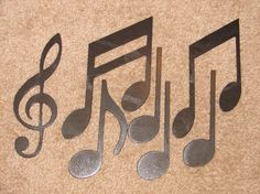 Metal Wall Art Decor MUSIC NOTES Musical Note Patio by artbyjack, $24.99