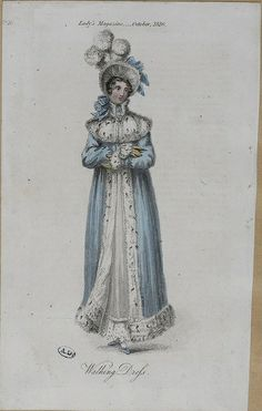 1816, English. Walking Dress.