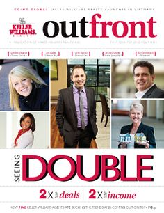 OutFront is Keller Williams Realty's semi-monthly publication, focused on the Keller Williams advantage, success strategies among our associates throughout North America, and leading-edge strategies to help you to seize the shift in the real estate market to grow your market share.  Each issue is distributed to all of our associates in the United States and Canada.