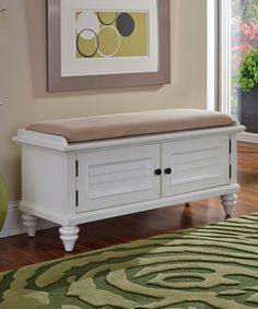 Home Styles Bermuda Upholstered Entryway Bench White Storage Bench, Entryway Bench Storage, Upholstered Storage Bench, Entryway Furniture, Furniture Outlet, Furniture Decor, Bedroom Furniture, Diy Furniture Hacks, Window Benches