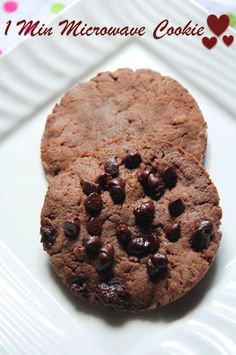 YUMMY TUMMY: 1 Min Microwave Eggless Cookie Recipe / How to Make Chocolate Cookies in Microwave