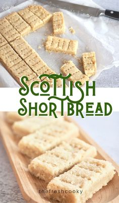 Best Shortbread Cookie Recipe, Scottish Shortbread Cookies, Shortbread Recipes, Easy Cookie Recipes, Sweet Recipes, Dessert Recipes, Christmas Shortbread Cookies, Traditional Shortbread Recipe, Gluten Free Shortbread Cookies