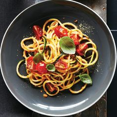 Zucchini Noodles with Cherry Tomato Marinara - Clean Eating - Clean Eating