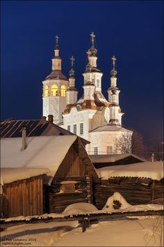 Totma town, Vologda, Russia view