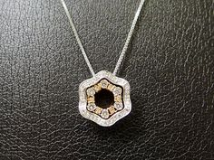 """DAMIANI 18k White Gold Necklace with Diamonds 20"""" 5.2g Very Good Condition - http://designerjewelrygalleria.com/damiani/damiani-18k-white-gold-necklace-with-diamonds-20-5-2g-very-good-condition/"""
