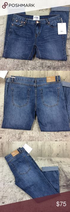 """One teaspoon low waist mid rise relax leg One teaspoon low waist mid rise relax leg tapered rolled cuff 100% cotton inseam 29"""" rise 9"""" One Teaspoon Jeans Ankle & Cropped"""