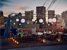 Stage a Rooftop Party with Modest Means