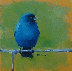 Indigo bunting  Tags: art, drawing, painting, oil, acrylic, bird, blue