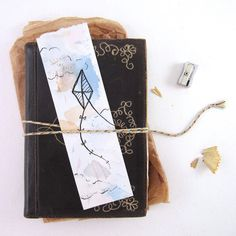 Kite Watercolor Bookmark Original by ArtistLydiaMakepeace on Etsy