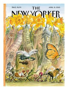 size: Premium Giclee Print: The New Yorker Cover - April 2013 by Edward Sorel : The New Yorker, New Yorker Covers, Cover Art, Illustrations, Illustration Art, Magazine Art, Magazine Covers, Time Painting, Thing 1