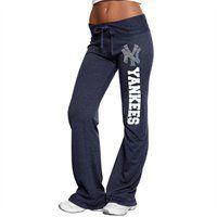 @Fanatics #FanaticsWishList - New York Yankees Ladies Bling Tri-Blend Sweatpants