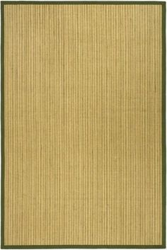 Safavieh NF442A Natural Fiber Green Power Loomed Sisal and Seagrass Casual Rug