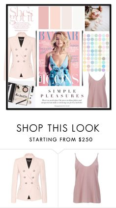 """Pretty in pink"" by krystalkm-7 ❤ liked on Polyvore featuring Balmain, TIBI and Prada"