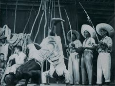 Capoeira.  I'm not sure the story of this photo. Would love to know if anyone recognises it