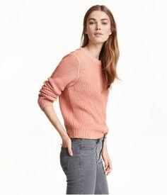 Knit Sweater | Powder pink | Ladies | H&M US | Size S