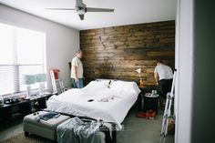 DIY Wooden Bedroom Wall How To 31 DIY and How To: Wooden Wall in Our Bedroom