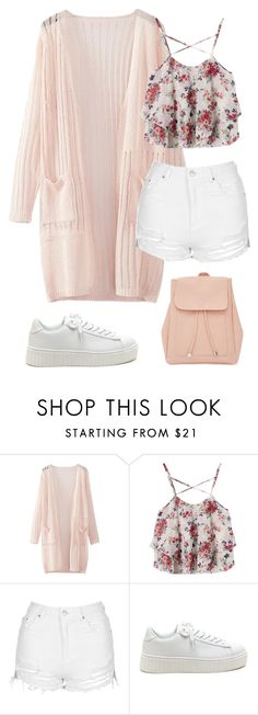 """""""White And Beige 395"""" by mrswilkinson ❤ liked on Polyvore featuring WithChic, Topshop and New Look"""
