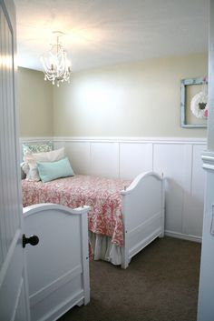love the paneling and the soft colors.  simplicity is a good thing.