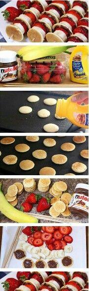 Lekker toetje met pannekoekjes