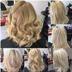 Blonde hairstyles  Colour blonde balayage highlights olaplex