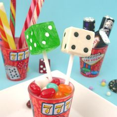 Dice Lollipops