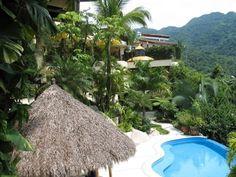 Casa Kalista is a multilevel luxury Puerto Vallarta villa rental majestically perched on the hillside in Mismaloya. Puerto Vallarta, Luxury Villa, Celebrity Weddings, Condo, Mexico, Villas, Places, Water, Outdoor Decor