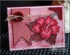 The Inking Spot of Crain Creations by Tangii Crain. Hibiscus by Just Inklined stamps. #cards, #copics, #stamping, #mixed media