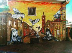 Marine fantasy ...follow us @arty.city #artstreet #arteurbano #streetartistry #cerroalegre #streetart #streetstyle