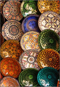 Marrakesh, Morocco... ( find a design on paper mod podge to handle add outside design to pull into together then seal it up)