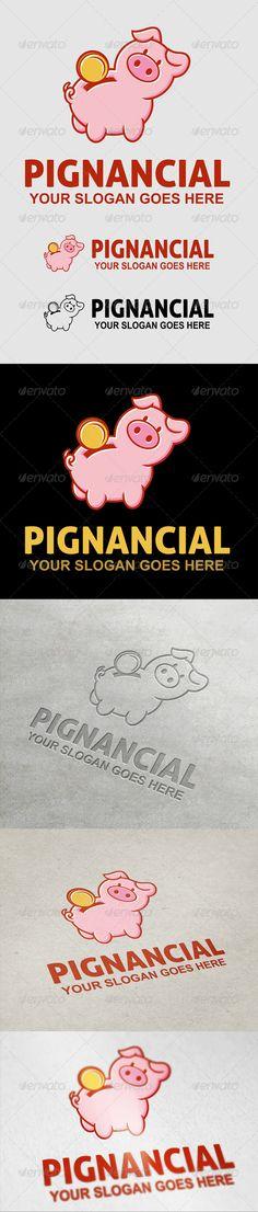 Pignancial  Logo Design Template Vector #logotype Download it here: http://graphicriver.net/item/pignancial-logo/7069560?s_rank=1485?ref=nexion